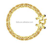 14k Yellow Gold Byzantine Link Bracelet 8mm