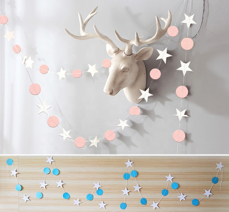 Colorful <strong>wedding</strong> /birthdays / marriage / party decorations hanging garland string
