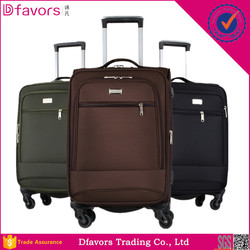 Best price 4 piece expandable spinner polyester luggage set hot sell