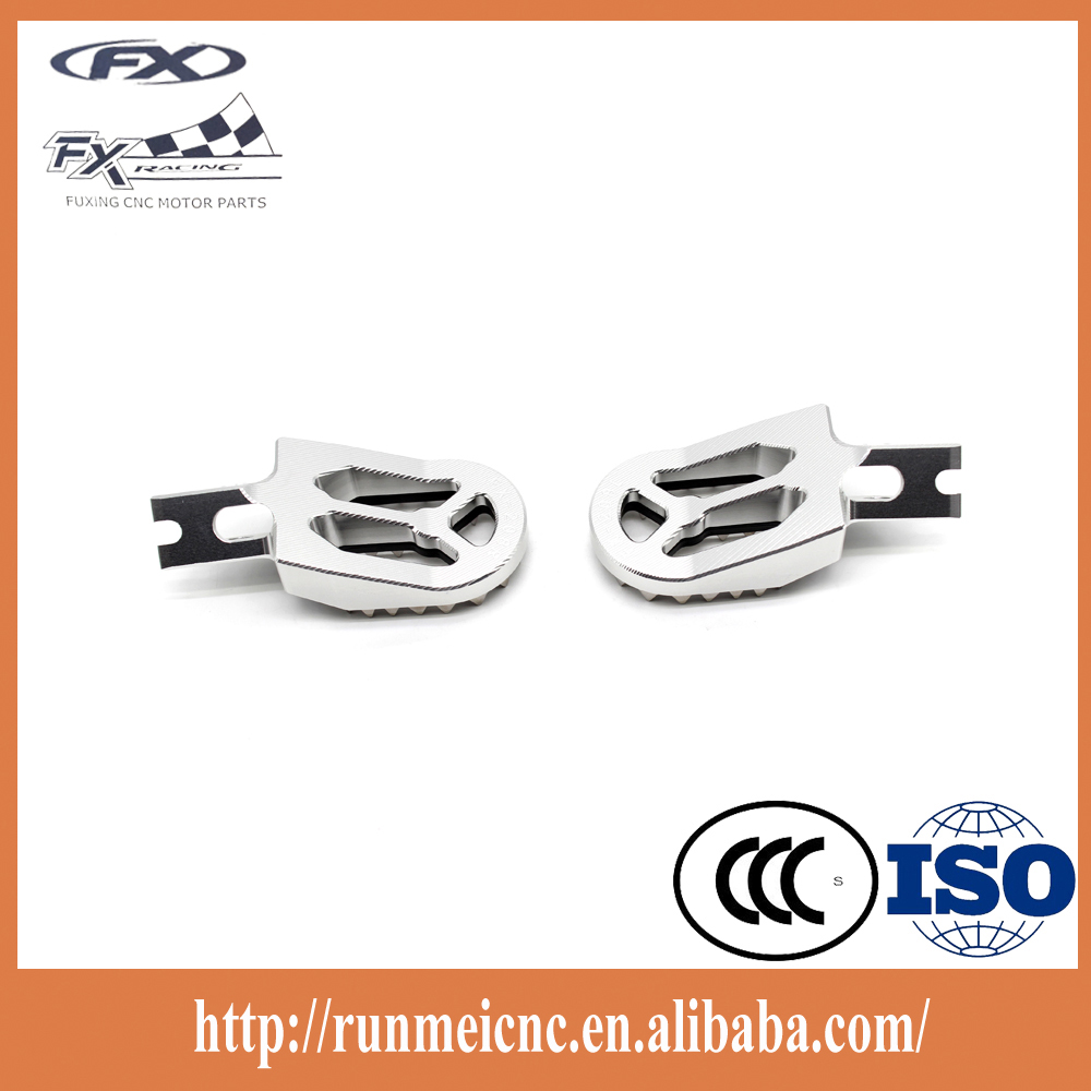 Motorcycle parts aftermarket supplier Pro wholesale footpegs for kawasaki dirt bike KX450F 07-15 KLX450 08-15