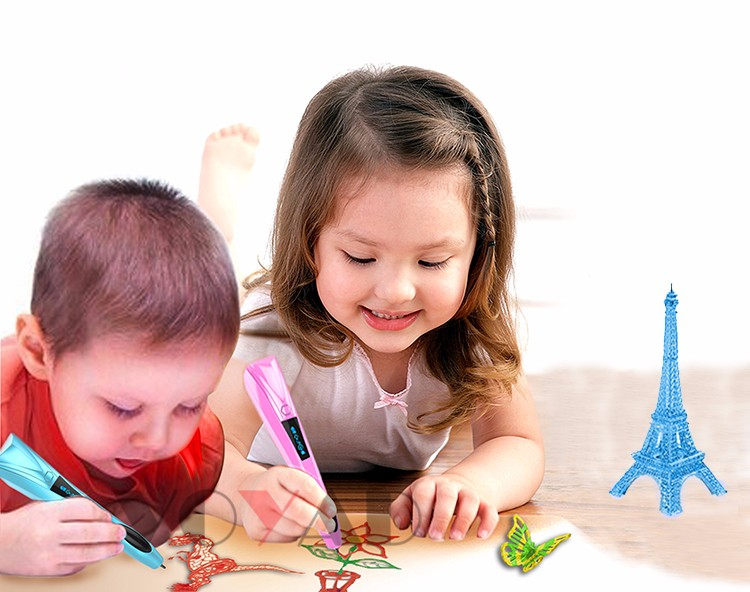 Kid safety Cool Ink 3D Printing Pen Colorful 3D 3d Art Pen Printing Machine