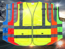 polyester reflective safety vest wholesale bulk clothing