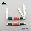 High quality 3 blade knife folding gift knife