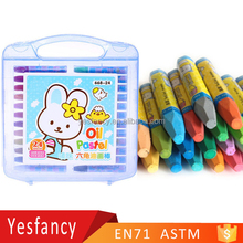 best seller 18pcs non toxic plastic case oil pastel wax crayon