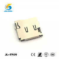 JL-TF09 push-push type TF micro sd card 9 pin pcb sim card connector