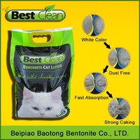2015 new pet products color & scented bentonite clay cat litter