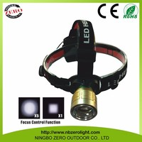 Water And Shock Resistant high power zoom headlamp, XM-L T6 uv headlamp flashlight, head lamp led hedlight