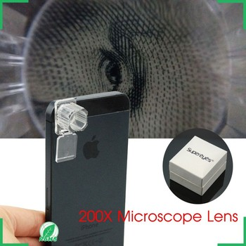 200X Optical Zoom Lens Microscope Magnifier Lens Set Kit for Cell Phone Camera