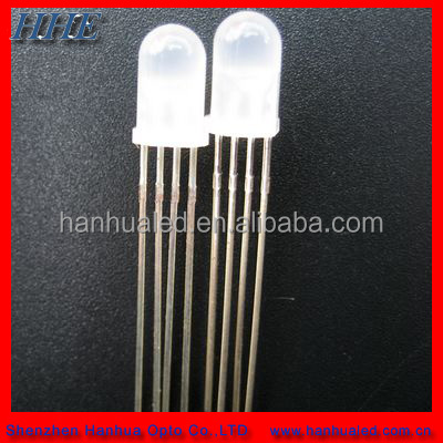 High intensity 4-pin 5mm rgb led diode with common cathode or anode