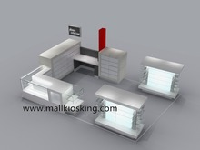 Shopping mall cell phone accessories display kiosks for mobile phone store design