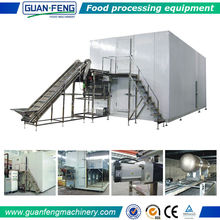 Sweetcorn/ Green Beans Food Processing Industrial Quick Freezing Machine