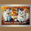 New arrival product lovely cat canvas painting