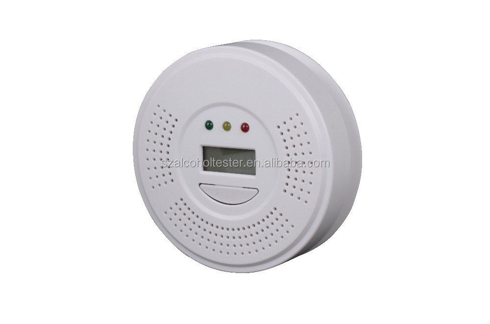 Household battery operated carbon monoxide detector with relay