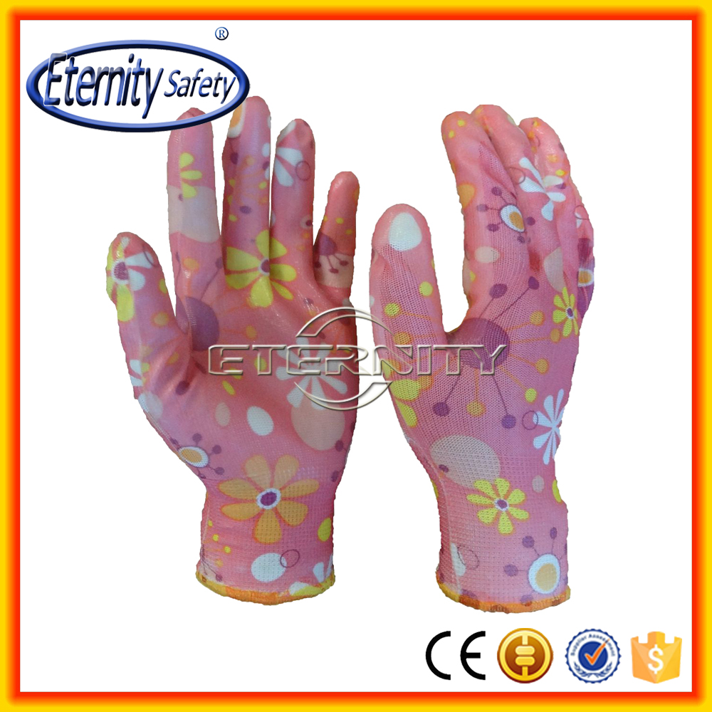 Nylon Printed Nitrile Coated Gardening Glove