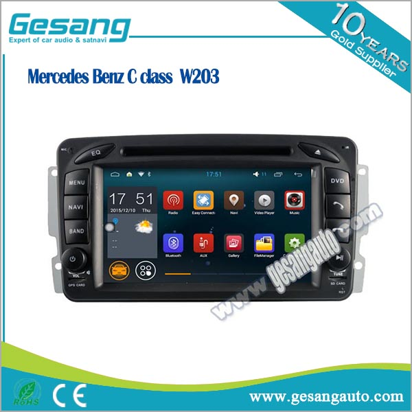 car radio multimedia system for Mercedes Benz <strong>C</strong> class W203 android car dvd palyer with RDS bluetooth car gps navigation