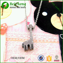 Girlfriend gift female sika deer shape pendant necklace jewelry,lovely animal necklace