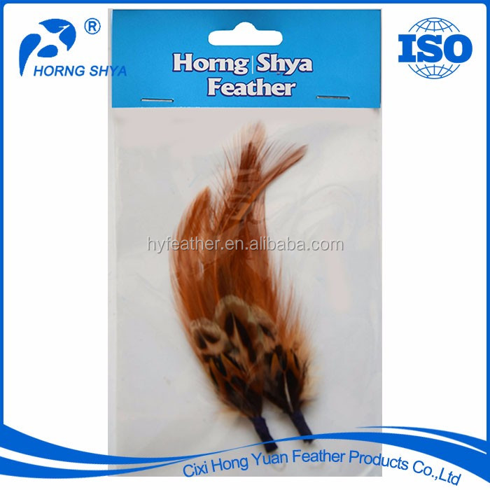 Manufacturer High Quality 3pcs/ Opp Bag With Header Card Natural Packaged Feather Hat Trims