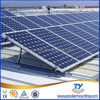 solar power flat roof solar panel mounting system