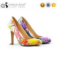 Top brand ladies shoes new high heel flower girl shoes