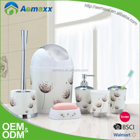 home accessories plastic bath collection bathroom organizer toothbrush holder soap container