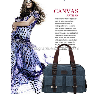 Manufacturer Latest Women Canvas Tote Bag in China