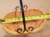 Cute Wicker & Metal Fruit Bread tray Basket with handle