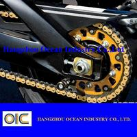 Gold Motorcycle Chain And Sprocket Kit