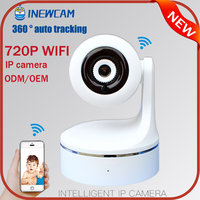 720P hd night vision h.264 sd card storage ip camera