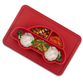 Hot plate cheap price waterproof non slip dinner silicone plates