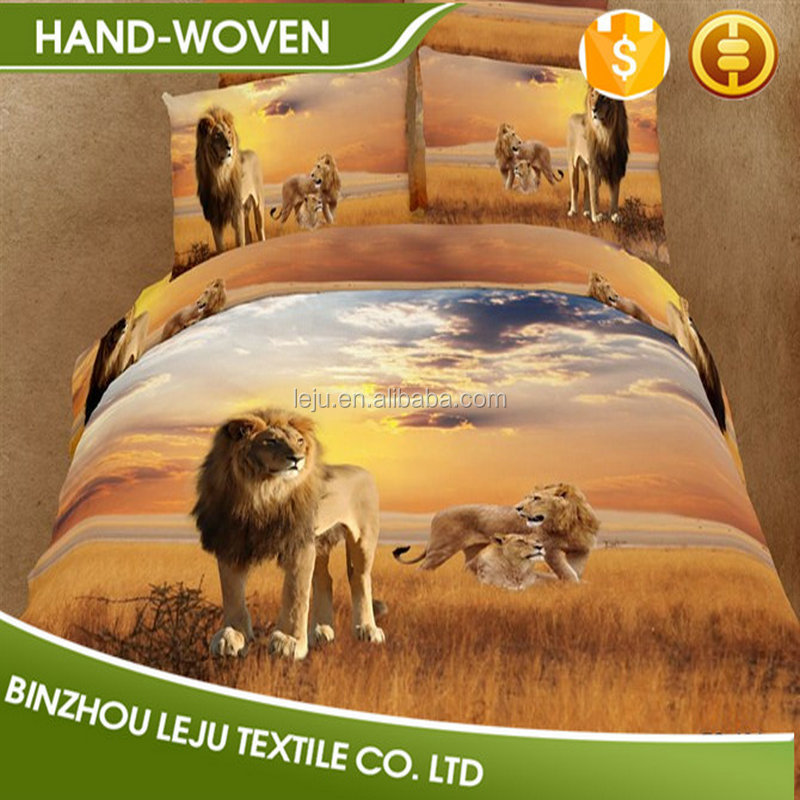 3d animal reactive print bedding sets queen size
