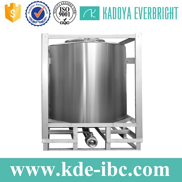 Best price stainless steel cylindrical IBC tote tank