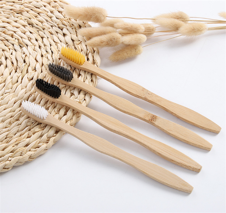 wholesale eco-friendly bamboo toothbrush bamboo charcoal toothbrush
