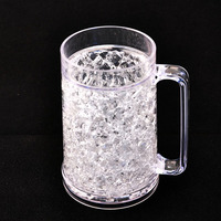 Sedex Audit bottle Manufacture 16oz PS Bpa Free beer mug ice gel, beer mug freezer,beer mug frosted freezer