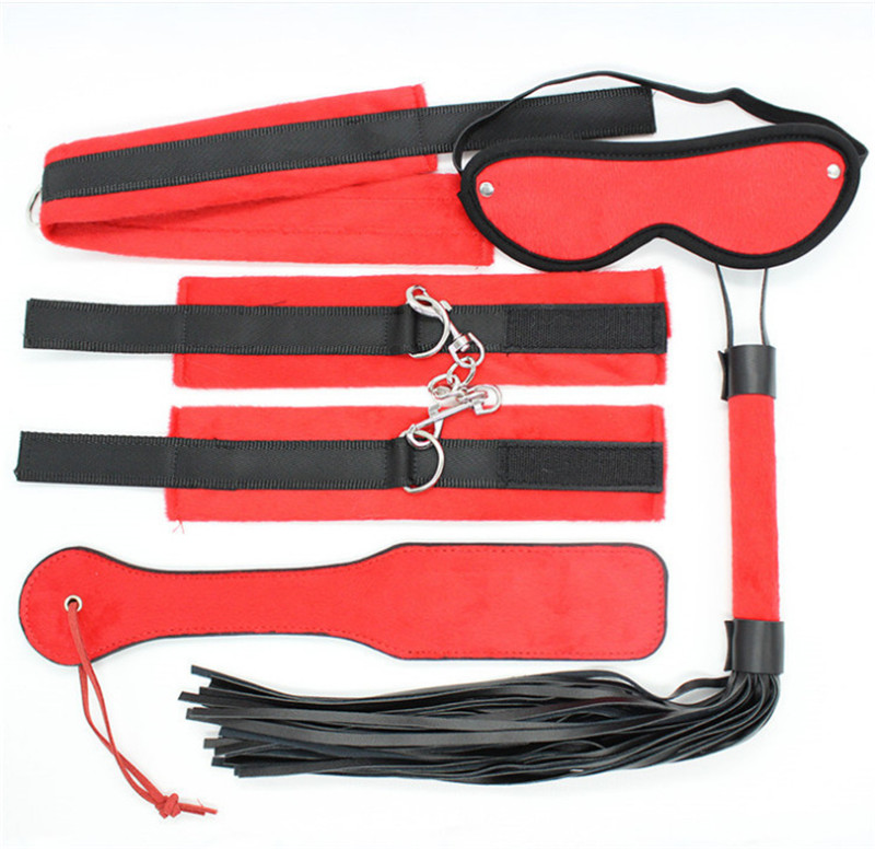 Sexy Leather Alternative Flirting Five sets of Adult Sex Toys Wholesale BDSM Bondage Restraints Slave