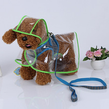 Fashion Jacket Clothes Dogs Puppy Raincoats Transparent Waterproof Rainsuit Pet Dog RainCoat