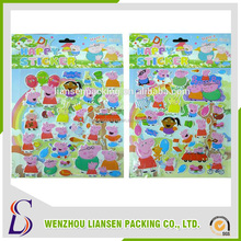 LS-PF1003 made in china new design custom 3d puffy sticker with eyes,alphabet puffy sticker, pvc puffy sticker