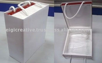 Wine Gift Box with Handle, Wine Packaging
