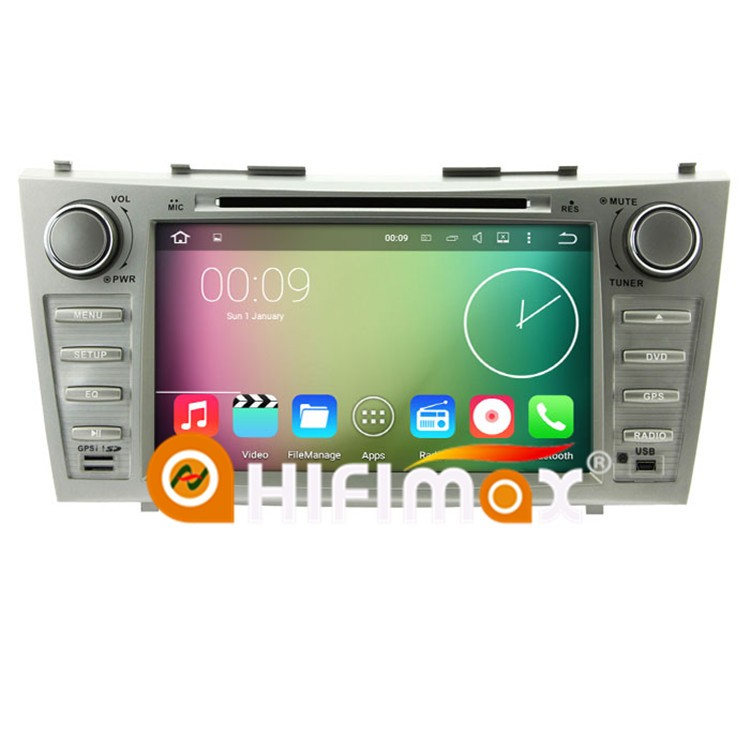 hifimax android 7 1 car radio gps navigation for toyota camry 2007 2008 2009 2010 touch screen. Black Bedroom Furniture Sets. Home Design Ideas