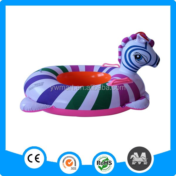 Funny design inflatable float inflatable twin baby double swim float seat