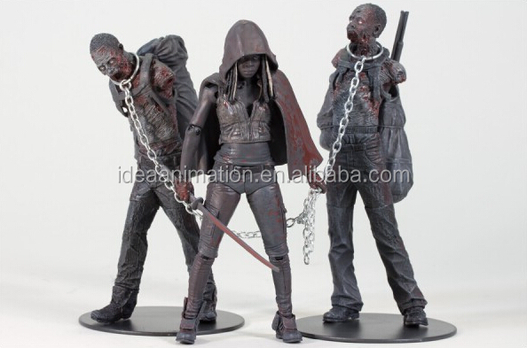 wholesale custom made plastic walking dead action figure