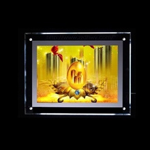 A1 A2 A3 A4 <strong>advertisement</strong> acrylic picture frame stand crystal light <strong>box</strong>