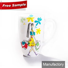 hot selling personalized fine new bone china tall coffee mug for valentine day