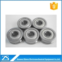 aluminum sliding window guide u groove track roller bearing