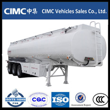 Oil Tanker Semitrailer 35000L With 3 Axle 5 compartment/fuel transport tanker truck