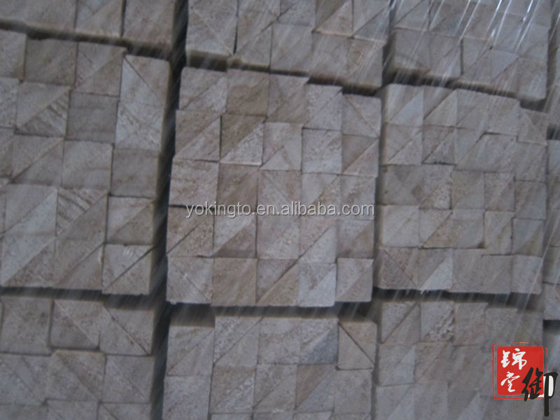 Triangle wood strips triangle tilt fillet paulownia pine wood chamfer strips