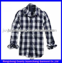 men casual plaid fashion shirt