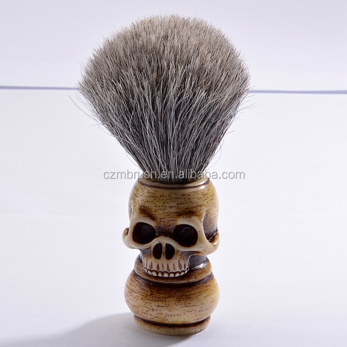 Professional horse hair shaving brush, badger hair shaving brush skull brush