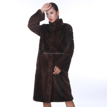Y15A002 New fashion real mink coats women hot selling