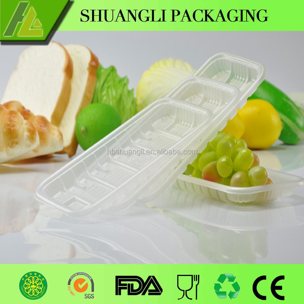 Custom Factory Design Clear Plastic Vegetable Tray