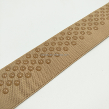 Full printed dot webbing Silicone coated shoulder strap gripper silicone elastic tape for clothing
